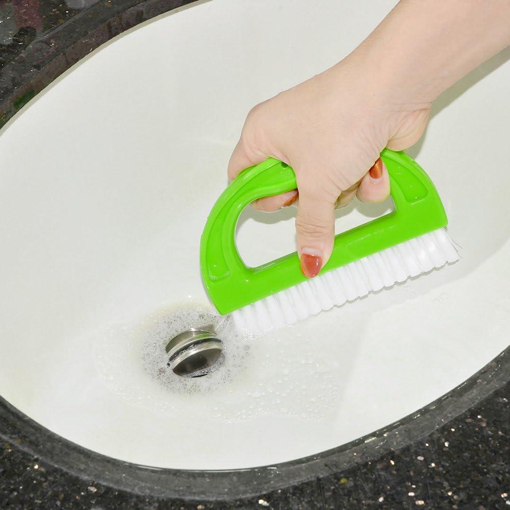 IDEALEBEN Fugenb/ürste Fliesenb/ürste Reinigungsb/ürste Reinigt effektiv Fugenfliesen und entfernt Schimmel oberfl/ächlich Fugenreiniger f/ür Bad K/üche und Haushalt
