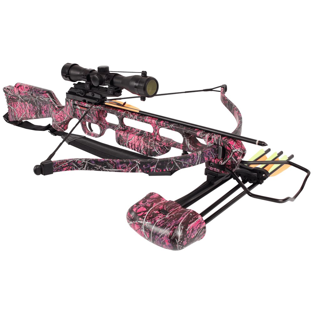 SA Sports Fever Muddy Girl Recurve Crossbow (Pink) w 4x32 Scope, Quiver, & 12 Extra Bolts (Total 16 included) by SA Sports (Image #4)