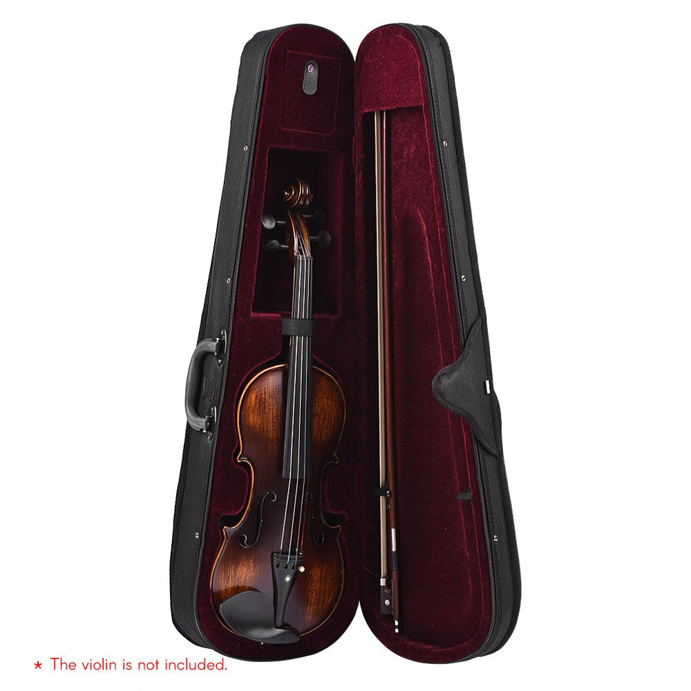 Docooler Professional 4//4 Full Size Violin Triangle Shape Case Box Hard /& Super Light with Shoulder Straps Beige