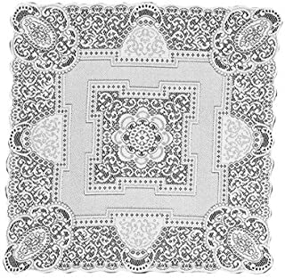 product image for Heritage Lace Canterbury Classic 36-Inch by 36-Inch Table Topper, Ecru