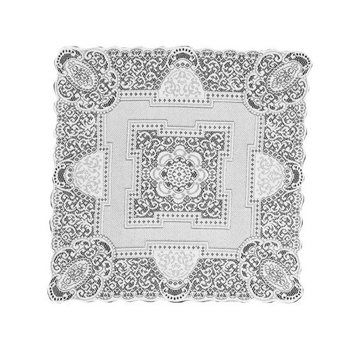 Heritage Lace Canterbury Classic 36-Inch by 36-Inch Table Topper, White by Heritage Lace