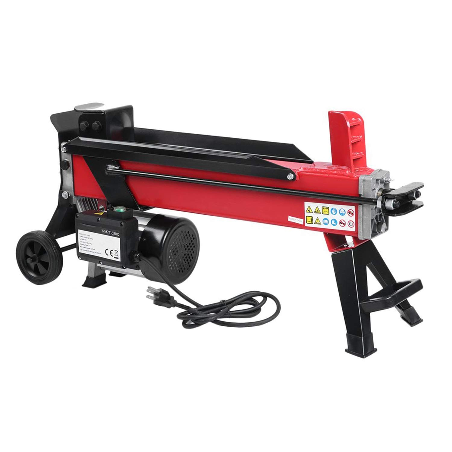 110V Electric Hydraulic Log Splitter 7 Ton Powerful Firewood Chopping Machine Labor Saving Wood Kindling Cutter US Plug