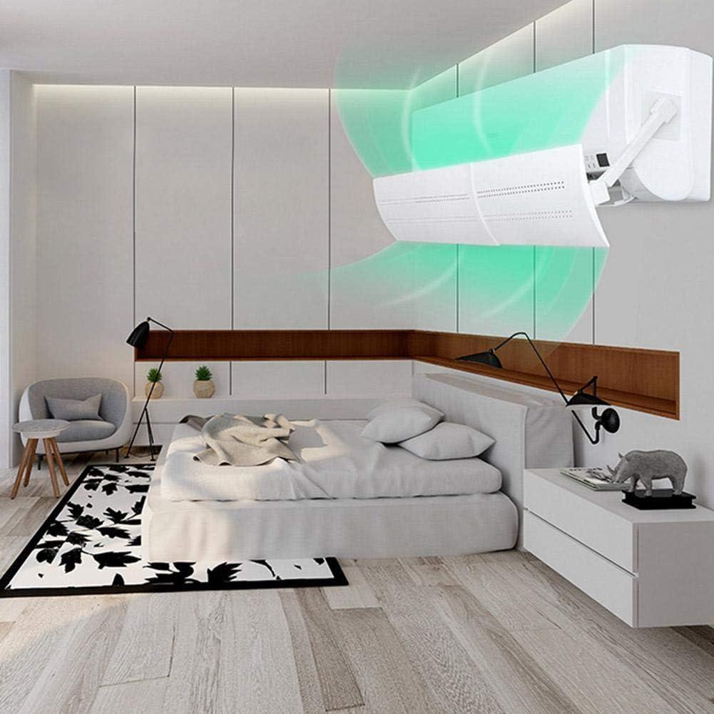 convincied Anti-Coup Direct r/églable climatiseur d/éflecteur Pare-Brise Anti-soufflage Direct D/éflecteur dair de climatisation Murale,sans perceuse D/éflecteur de Suspension /à Angle r/églable