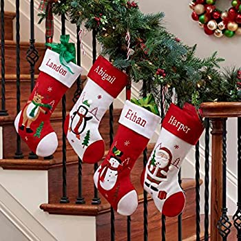 Amazon Com 18 Personalized Christmas Stocking Home Kitchen