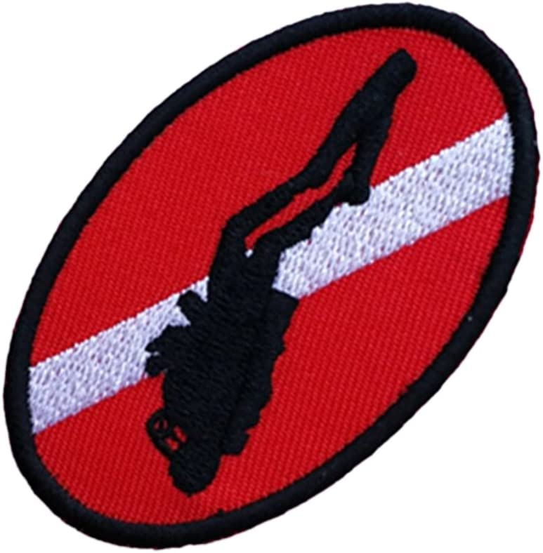 SCUBA DIVING DIVER DIVE FLAG PATCH patches backpack BADGE IRON ON EMBROIDERED