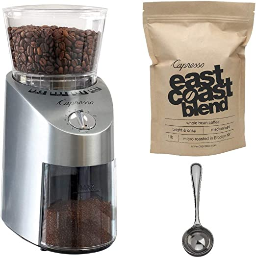 Capresso 565.05 Infinity Conical Burr Grinder Stainless Steel