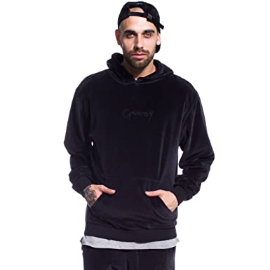Grimey Sudadera Natural Velour Hoodie FW17 Antracite Black: Amazon.es: Ropa y accesorios