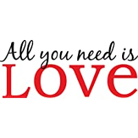 WallPops WPQ96854 Peel and Stick All You Need is Love Quotes Wall Decals