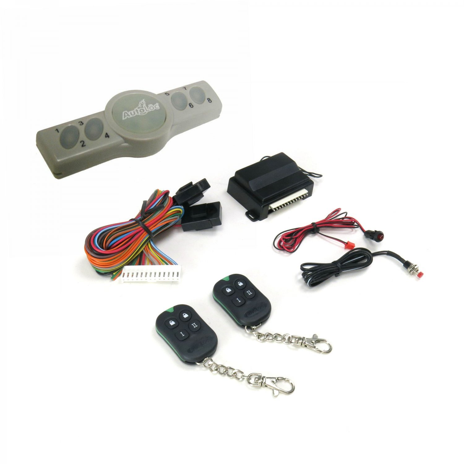 AutoLoc Power Accessories 9769 Axess Wireless Touch Pad Entry System with Remote Entry System