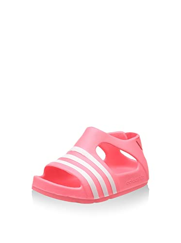 2653652063f3 adidas Girls Infant Girls Adilette Play Sandals in Pink  Amazon.co ...