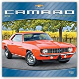 Camaro 2018 12 x 12 Inch Monthly Square Wall Calendar with Foil Stamped Cover, Chevrolet Motor Muscle Car (Multilingual Edition)