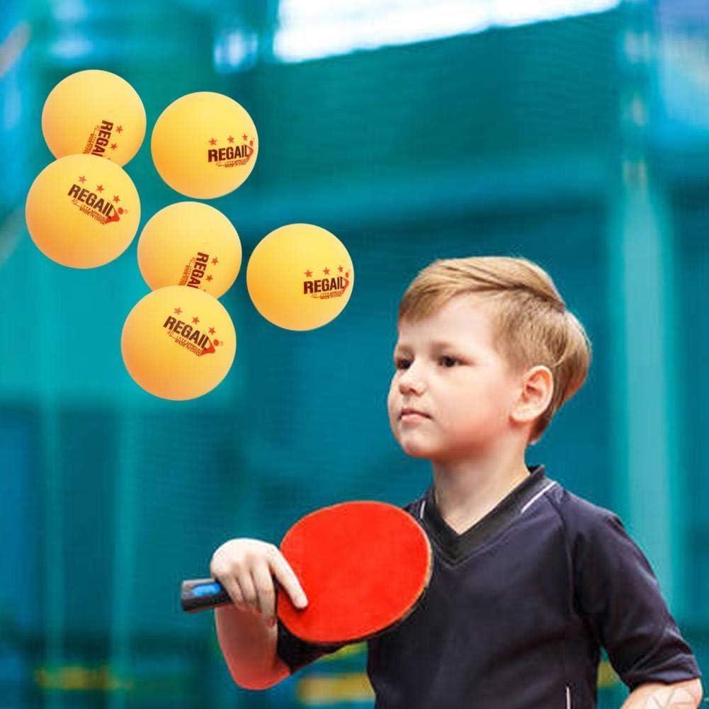 KyStudio 6 Pack Plastic Table Tennis Ballls Training Ping Pong Balls Table Tennis Beer Pong Balls