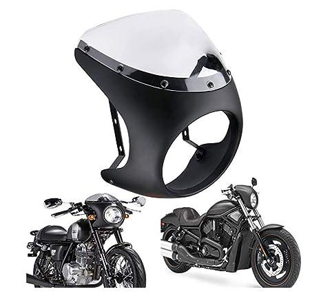 "7 /"" Universal Motorrad Scheinwerfer Retro Cafe Racer Lenker Verkleidung"