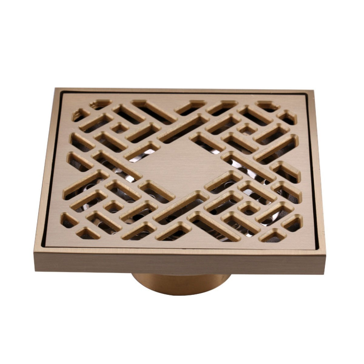 European Bathroom Floor Drain Shower Square Antique Copper Anti-odor Floor Drain Strainer Germ YouxianGongsi