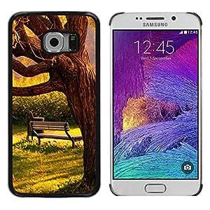 Be Good Phone Accessory // Dura Cáscara cubierta Protectora Caso Carcasa Funda de Protección para Samsung Galaxy S6 EDGE SM-G925 // Sun Warm Meaning Sad Love Romantic