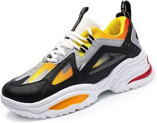 LFLDZ - Zapatillas de Running para Hombre, Entrenamiento Personal, Transpirables, Resistentes a la abrasión, Zapatillas de Deporte de Malla Slip Air, Amarillo, 42: Amazon.es: Hogar