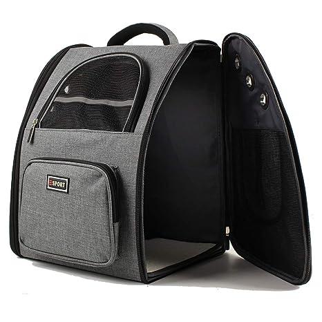 a80345ff1d22 Amazon.com   Hcupet Collapsible Pet Carrier Backpack