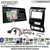 Volunteer Audio Kenwood Excelon DNX694S Double Din Radio Install Kit with GPS Navigation System Android Auto Apple CarPlay Fits 2015-2016 Ford F-150, 2017 Ford F-250