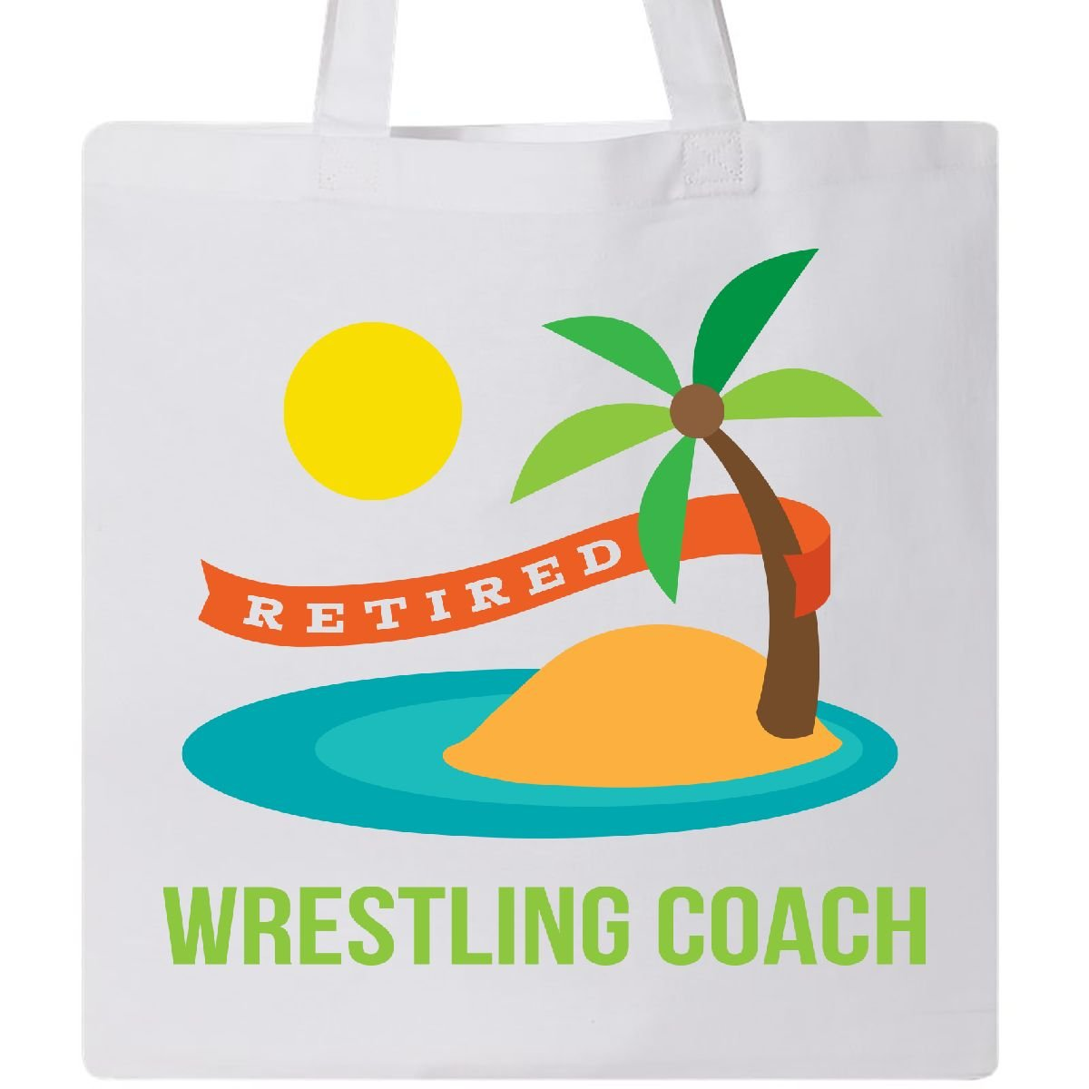 Inktastic - Retired Wrestling coach Tote Bag White 1d9f4