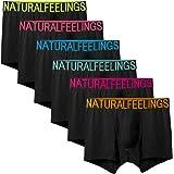 Natural Feelings ボクサーパンツ メンズ 1/3/6枚セット メンズ 下着 ボクサーブリーフ ボクサーパンツ ロング 男性 下着 肌着 メンズ 前開き カラフル