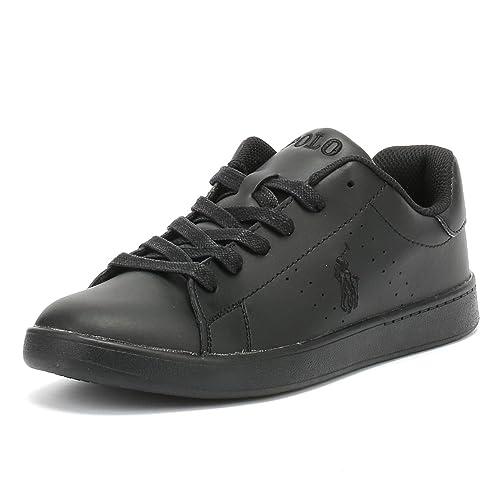 Ralph co Black SneakersAmazon uk Quilton Polo Youth Leather Lauren zpSVUM