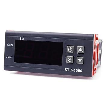 XCSOURCE® 220V Digital Controlador de Temperatura Control del Termostato Relays Sensor de Temperatura TE054