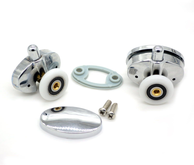 Set of 4 new Oval singel wheel Shower door rollers 25mm