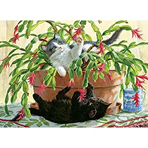 Cobblehill 80031 1000 Pc Cactus Kitties Puzzle Vari