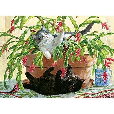 Cobblehill 80031 1000 Pc Cactus Kitties Puzzle Vari