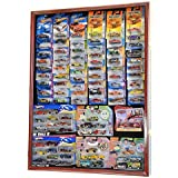 Hot Wheels / Matchbox for cars in retail boxes Display Case Cabinet w/ UV Door, Cherry