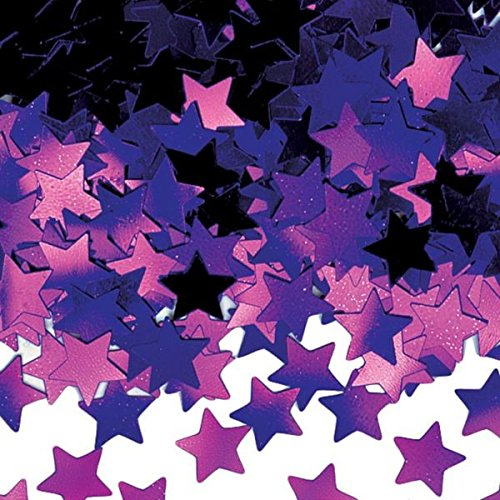 Amscan AMI 36914.14 048419986409 Mini Stars Confetti, 1/4 oz, Purple ()
