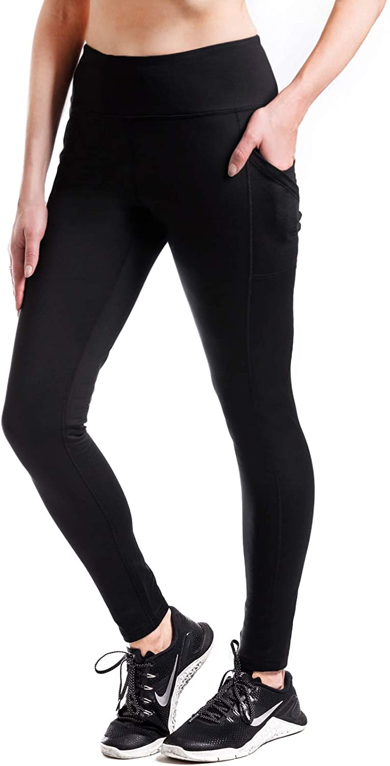 "Yogipace,Women's 25""/28""/31""/34"" Water Resistant Thick Thermal Fleece Lined Leggings"