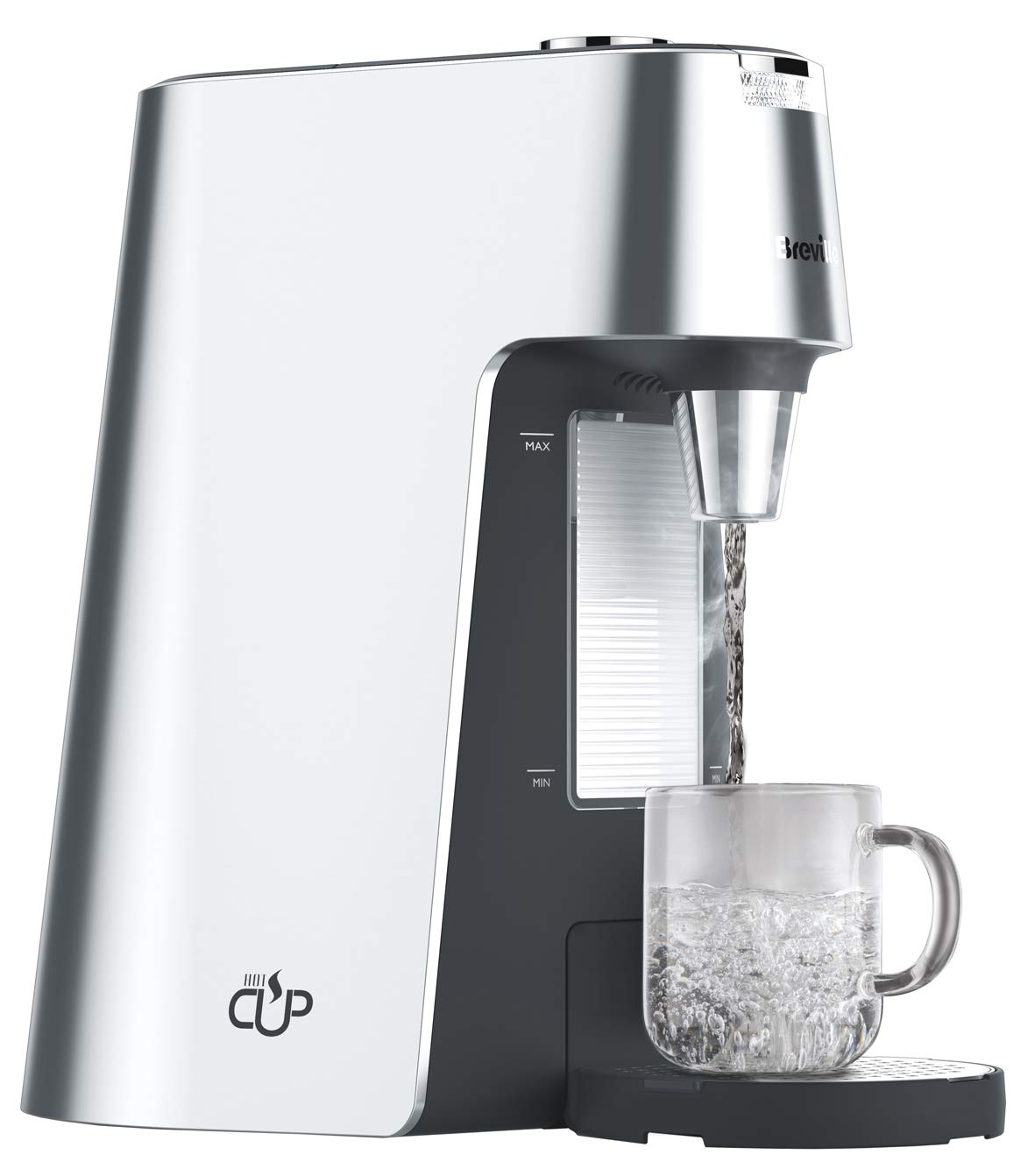 Breville HotCup Hot Water Dispenser with Height Adjust and Variable Dispense, 2.0 Litre, Silver VKT111