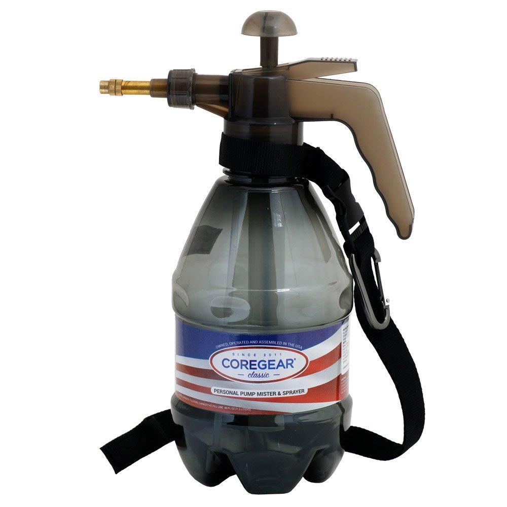 COREGEAR CLASSIC Mister USA Misters 1.5 Liter Personal Water Mister Pump Spray Bottle (Grey)