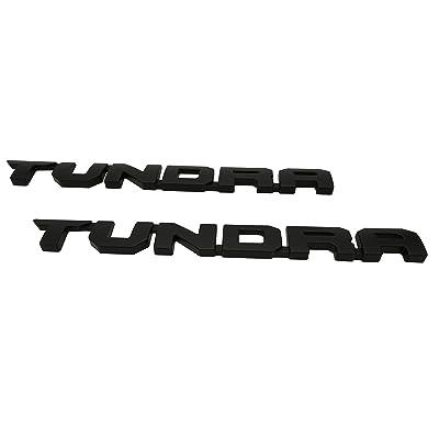 Tundra Door Emblem Sticker Badges For 2013-2020 SR51974 TRD PRO, 2 PCS, Matt Black: Automotive