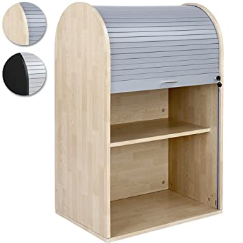 Miadomodo Roller Shutter Cabinet Tambour Door Office Cupboard ...