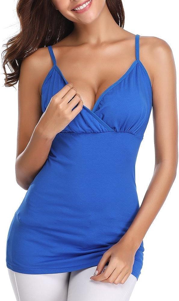 Derssity Women Nursing Tank Tops for Breastfeeding Camisole Maternity Nursing Sleep Shirt