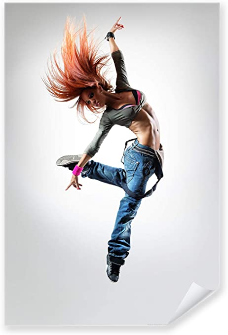 Hip Hop Tänzerin 0189 Postereck Poster Tanzen Musik Street Dance Frau