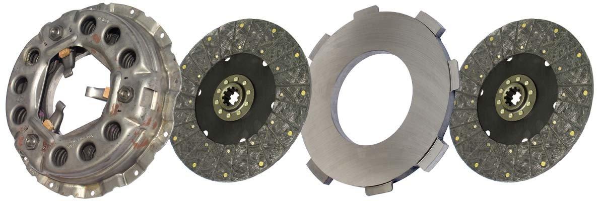 IATCO LP1940-132-IAT 330mm x 1-1/2'' Stamped Steel Clutch (Two-Plate, Push-Type, Organic/Rigid, 2000 Plate Load / 400 Torque)