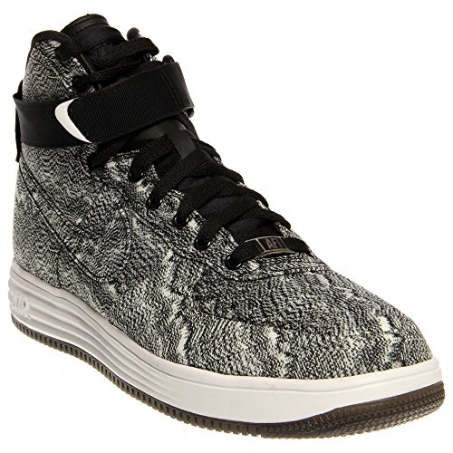 Hombres Nike Lunar Force 1 High Textile Weave Shoes. Tamaño 11. Negro / Blanco