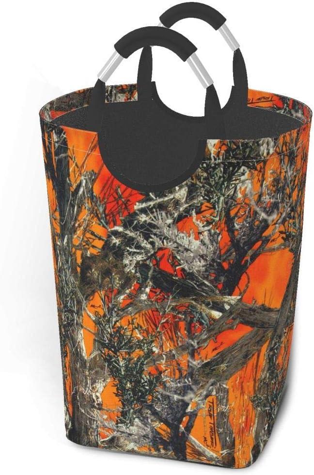 Liumt Camouflage Orange Grand Panier /à Linge Corbeille /à Linge Queue de Poisson de mer avec poign/ées Poubelle de Lavage de v/êtements paniers Sales Stockage