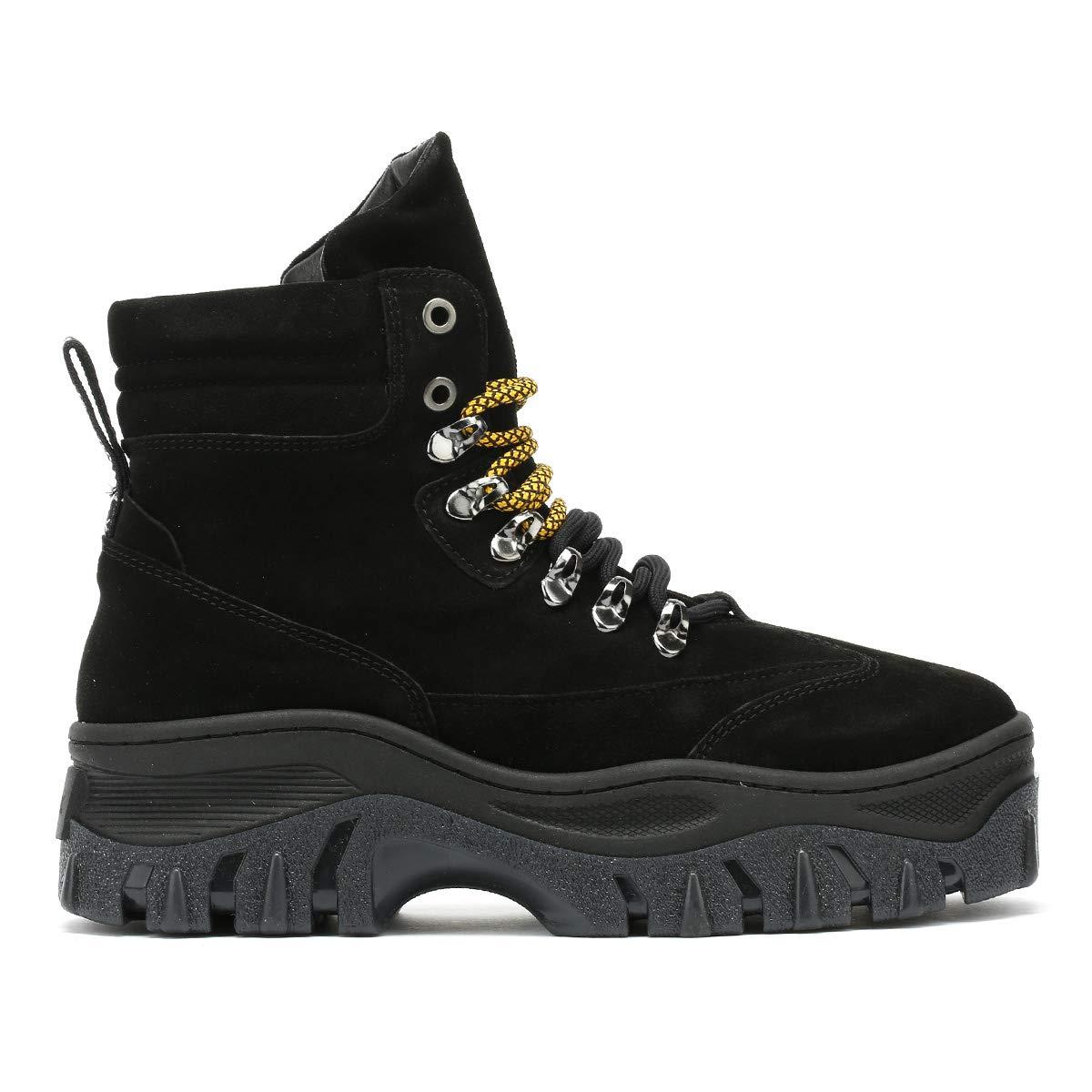Bronx Womens Black Jaxstar Hi-Top Chunky Sneakers