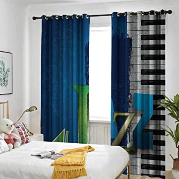Amazon.com: one1love Jazz Music Decor Curtains for Bedroom ...