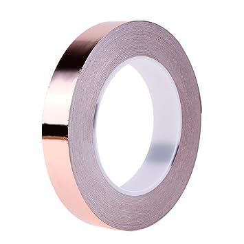 Protectores de cobre con cinta de pegamento, conductivos unilateral conductividad EMI apantallamiento, Vitral, artesanía, soldar, papel circuitos, eléctrica ...