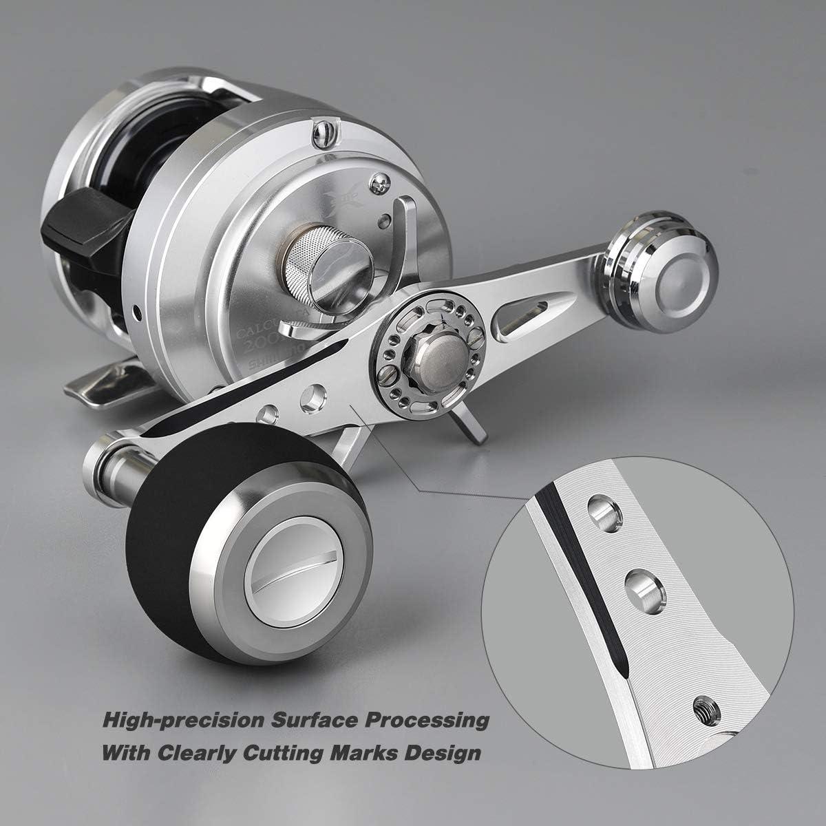 Gomexus Power Handle For Shimano Calcutta Conquest 300 400 8x5mm Aluminum 115mm