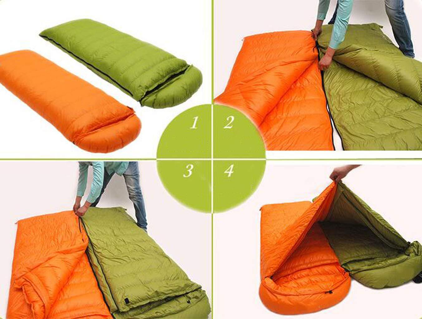 JBHURF Outdoor Erwachsene Erwachsene Erwachsene Camping Schlafsack Vier Jahreszeiten Bergsteigen Umschlag Typ Ultraleichte Daunenschlafsack (Kapazität   0.4kg, Farbe   rot1) B07KJ9SBS8 Mumienschlafscke Saisonale Förderung 404301