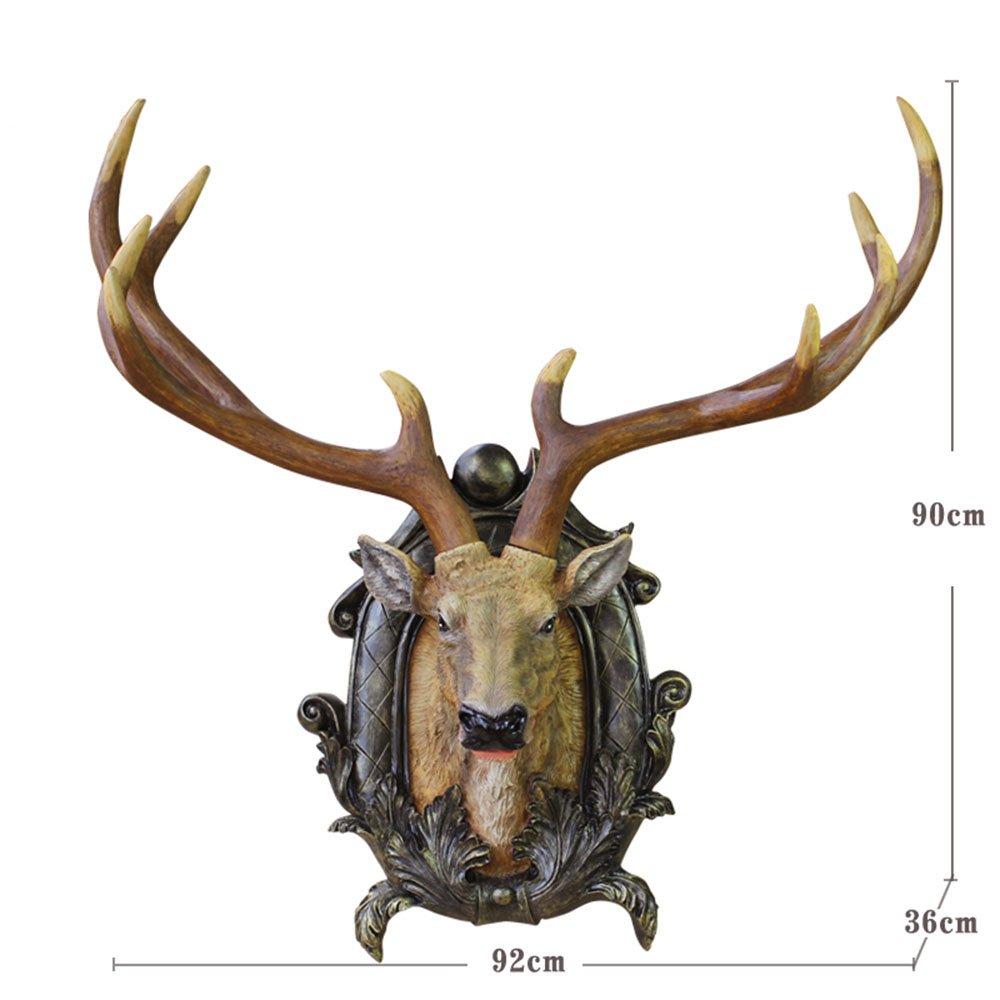 Amerikanische Antike-Simulation Harz-Rotwild-Kopf-Wand-Stab-Portal Wand-Dekorationen Restaurant-Wand-Anhänger Wand-Dekoration (Art, Größe wahlweise freigestellt) ( farbe : # 5 )