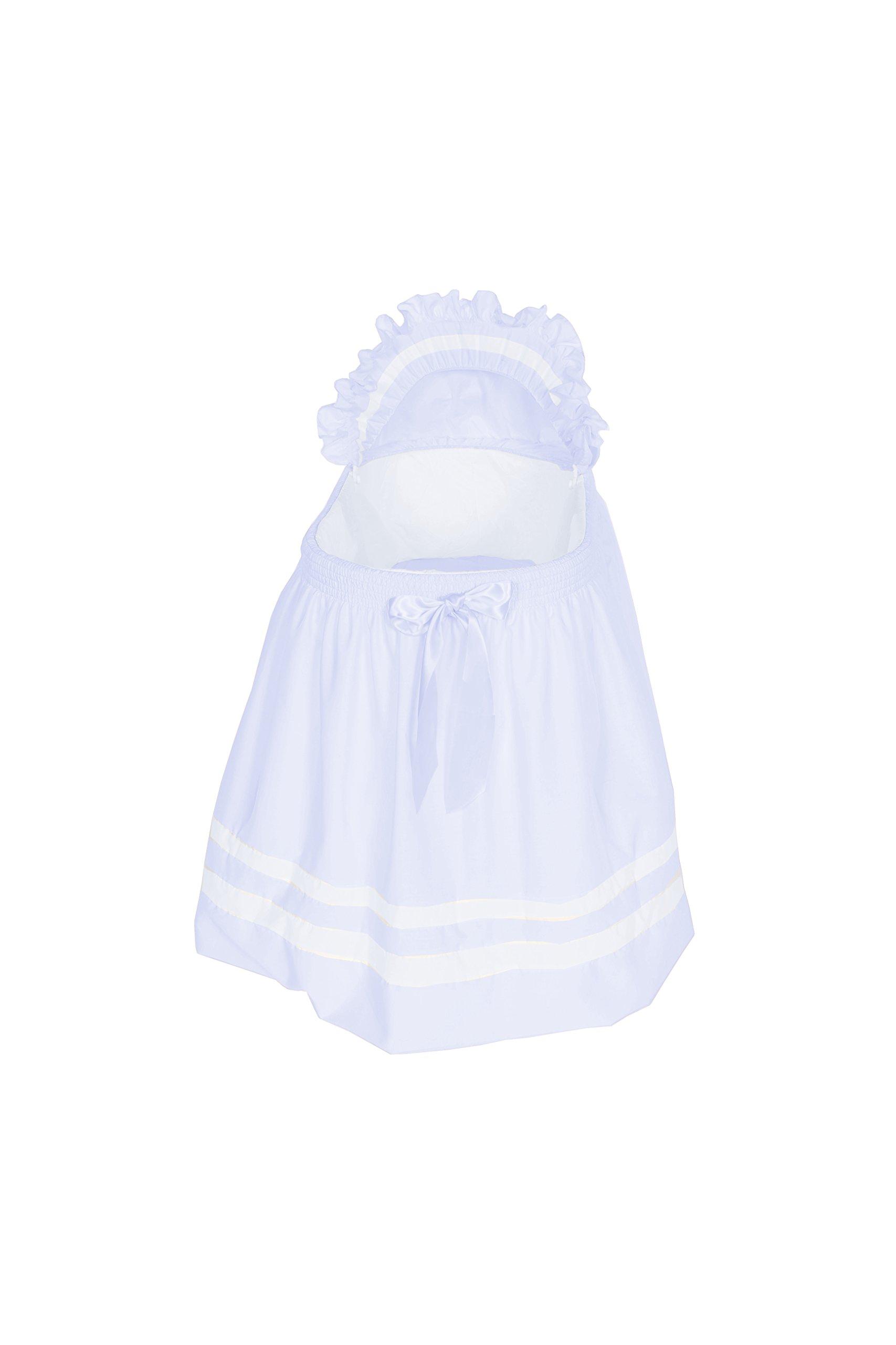 Baby Doll Bedding Modern Hotel Style Bassinet Liner, Blue