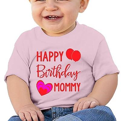 Wuliddf7d8d Baby Happy Birthday Mommy Fashion Round Neck T Shirt