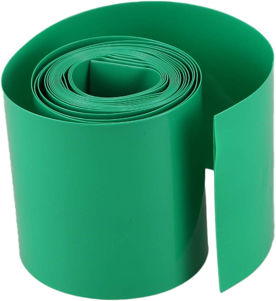 Gaoominy 2M 50mm Vert Fonce PVC Gaine thermoretractable pour 2 x 18650 Batterie